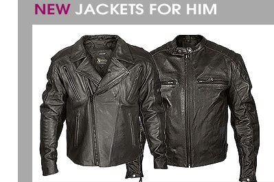 New Motorcycle Jackets for Him