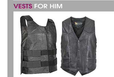 Men's Motorcycle Vests
