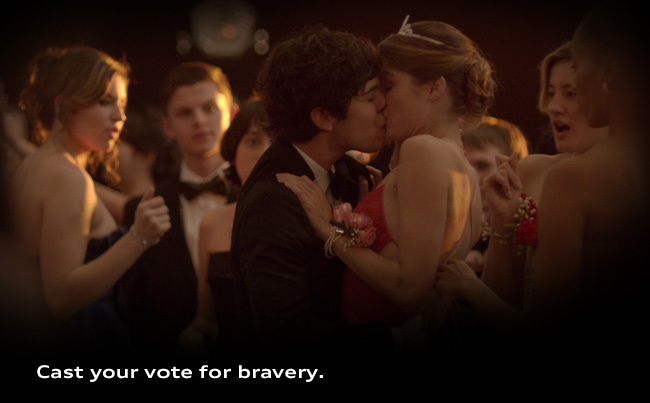 Cast your vote for bravery.