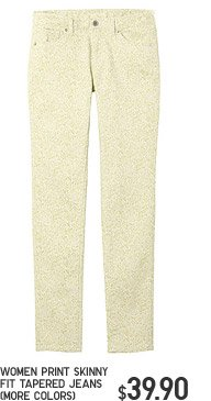 WOMEN PRINT SKINNY FIT TAPERED JEANS