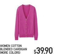 WOMEN COTTON BLENDED CARDIGAN