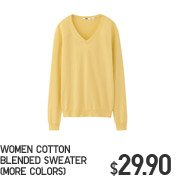 WOMEN COTTON BLENDED SWEATER