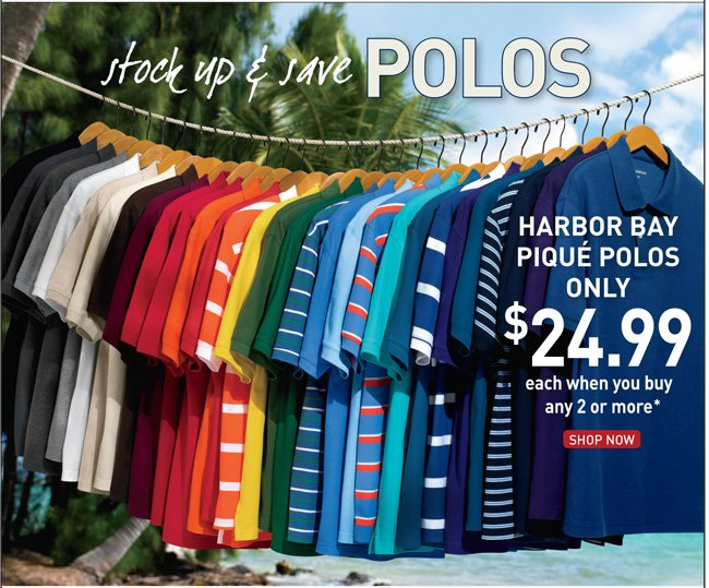 All Harbor Bay 2-for Polos