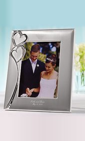 Personalized Twin Hearts Photo Frame