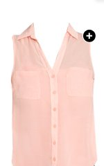 Solid Sleeveless Chiffon Shirt