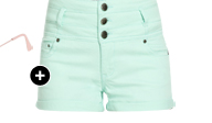 3 Button High Waist Short