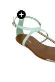 Metal T-Strap Sandal