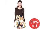 Patterned Panel Dress