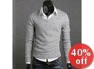 Inset Shirt Knit Top
