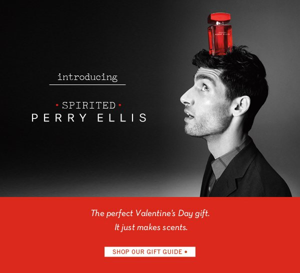 Introducing Spirited Perry Ellis ♥ Shop Our Valentine's Day Gift Guide
