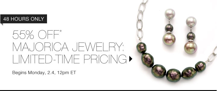 55% Off* Majorica Jewelry...Shop Now