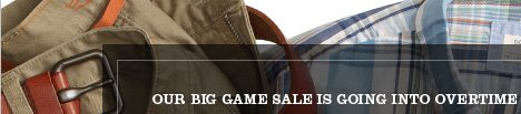 OUR BIG GAME SALE IS GOING INTO OVERTIME