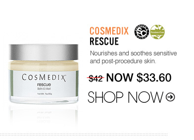 "Shopper's Choice, Paraben-free CosMedix Rescue Nourishes and soothes sensitive and post-procedure skin. ""Love the way it soothes the skin and relieves irritation and redness."" –From Santa Cruz, CA $42 Shop Now>>"