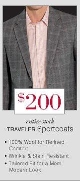 $200 USD - Traveler Sportcoats