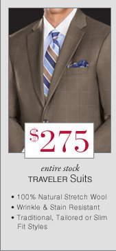 $275 USD - Traveler Suits