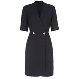 Paul Smith Dresses - Navy Drapy Drill Double-Breasted Dress
