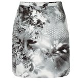 Paul Smith Skirts - Black And White Hazy Botanical Print Mini Skirt