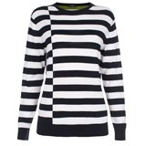 Paul Smith Knitwear - Navy Cut Up Stripe Jumper