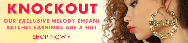 The Exclusive Melody Ehsani Ratchet Earings! Shop now on Miss KL