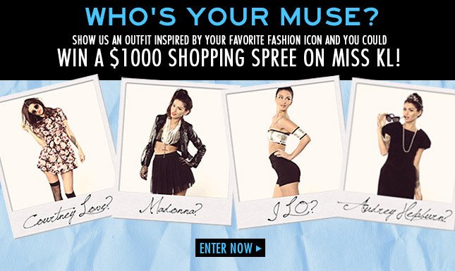 Win a $1000 shopping spree on Miss KL! Enter Contest Today!