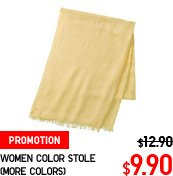 WOMEN COLOR STOLE