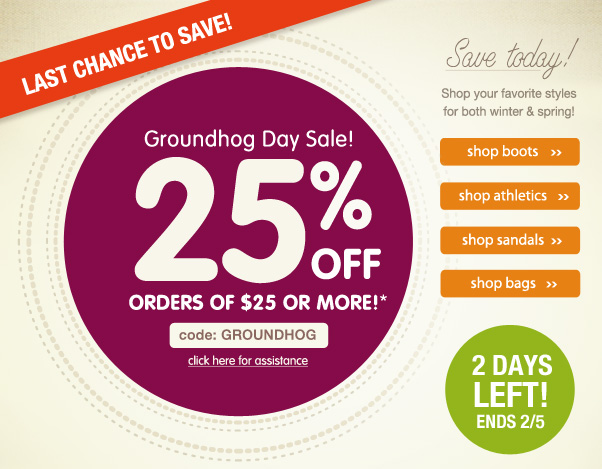 Don't Forget - Take 25% Off $25!