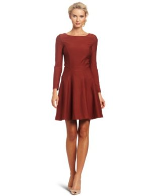 Cynthia Rowley <br/> Long Sleeve Double Knit Swing Dress