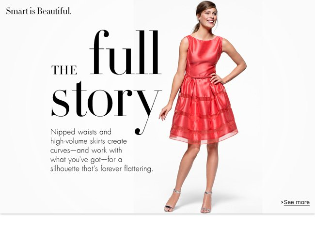 Check out our top eight fit-and-flare dresses. Nipped waists and high-volume skirts create curves--and work with what you've got--for a silhouette that's forever flattering.