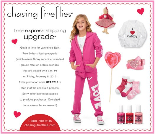 Free Express Shipping Upgrade for Valentine's Day!