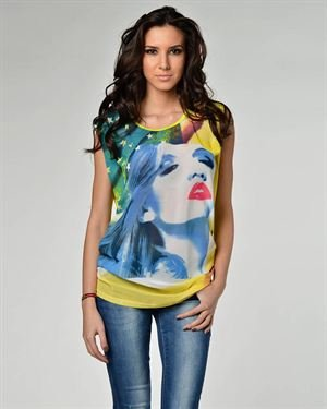 Joins Pop-Art Printed Blouse Made In Italy