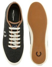Fred Perry Exclusive to ASOS Woodford Wool Plimsolls