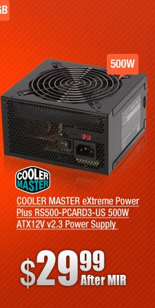 COOLER MASTER eXtreme Power Plus RS500-PCARD3-US 500W ATX12V v2.3 Power Supply