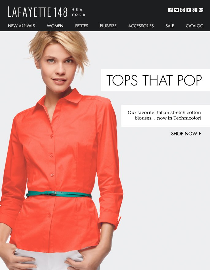Tops That Pop (There's a Hue for You!)