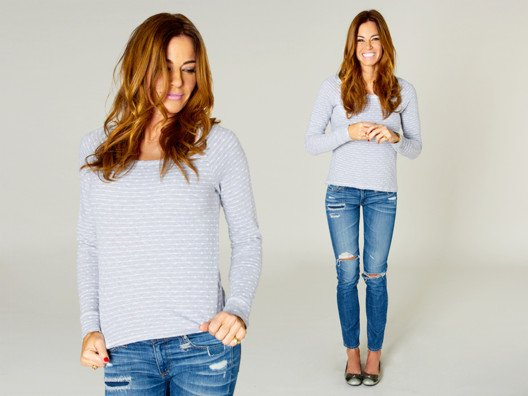 This top is chic enough for brunch and perfectly modest under a blazer. Oh and did I mention it's super comfortable?