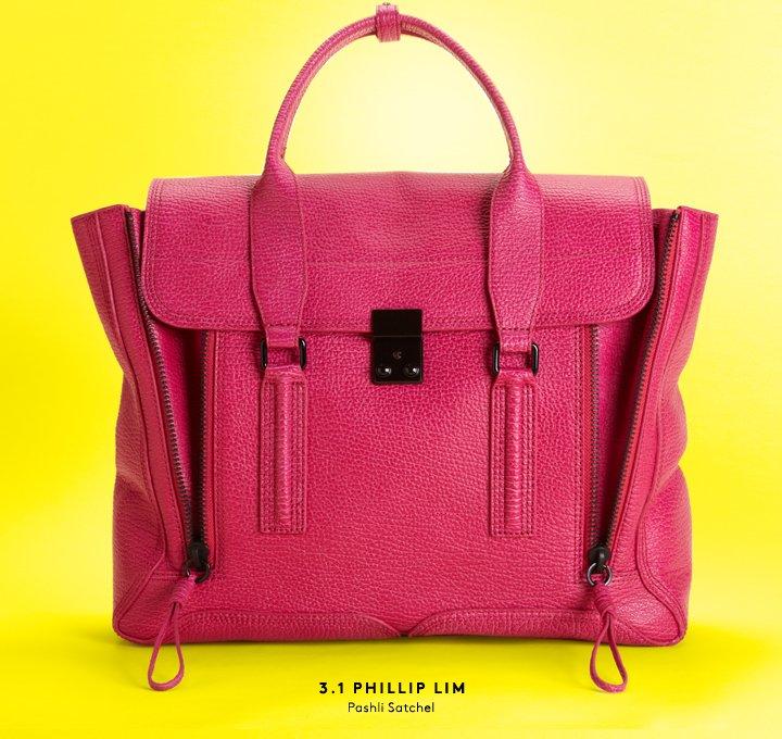 We prefer pink: Shop the new 3.1 Phillip Lim Pashli satchel.