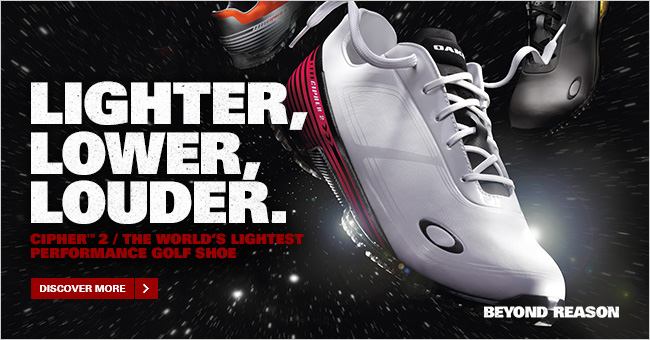 LIGHTER, LOWER, LOUDER. | CIPHER™ 2 / THE WORLD'S LIGHTEST PERFORMANCE GOLF SHOE | DISCOVER MORE