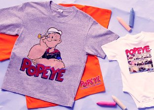 Popeye Graphic Print Clothing for Kids