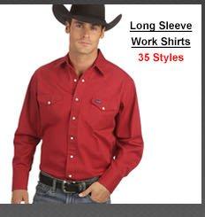 Men's Long Sleeve Work Shirts