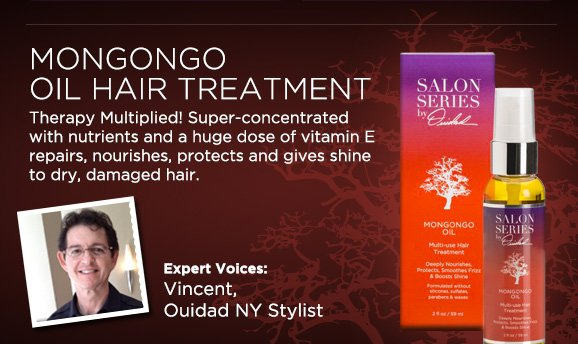 Mongongo Oil Hair Treatment - Therapy Multiplied! Super-concentrated with nutrients and a huge dose of vitamin E repairs, nourishes, protects and gives shine to dry, damaged hair.