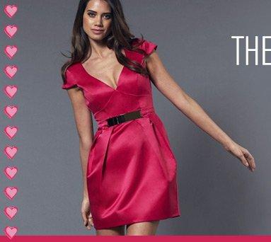 Plate Belt Tulip Shift Dress
