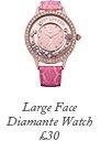 Large Face Diamante Watch