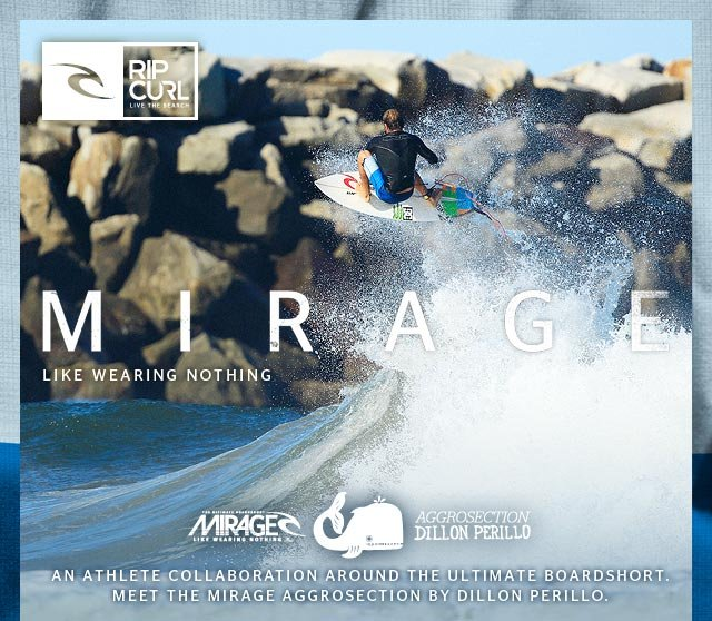 An athlete collaboration around the Ultimate Boardshort. Meet the Mirage Aggrosection by Dillon Perillo.