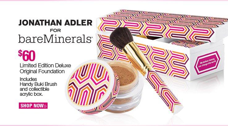 Jonathan Adler for bareMinerals - Limited Edition Deluxe Original Foundation - $60. Shop Now.