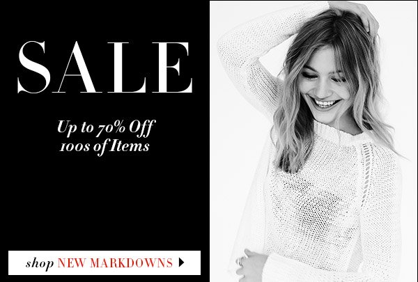 Sale starts today! Resort collections and key basics for every wardrobe are now up to 70% off. Shop sale >>