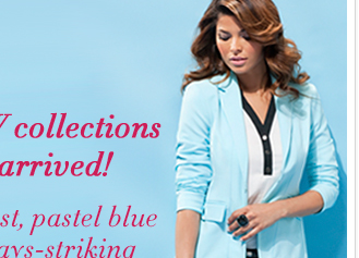 Our newest collections have arrived - pastel blue with black and white! Shop online now!
