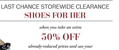Last chance storewide clearance shoes for her