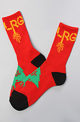 The Old Tree Crew Socks in Red