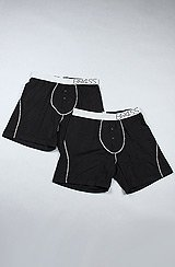 The Solid Br4ss Premium 2 Pack Boxer Briefs in Black & Gray