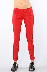 The Basic Core T-Back Twill Jean in Red