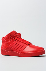 The Skytop III Sneaker in Red Leather & Suede